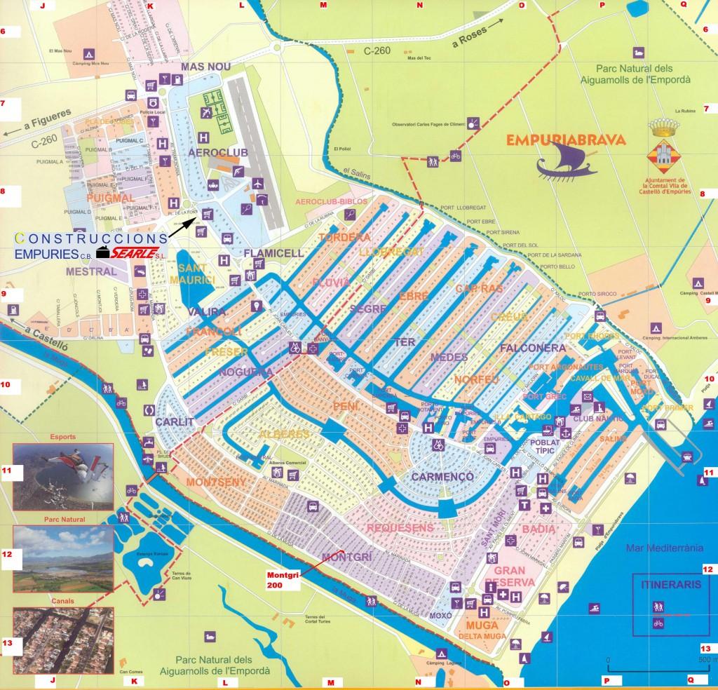 Карта Эмпуриабрава, Коста Брава